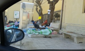 I migranti accampati