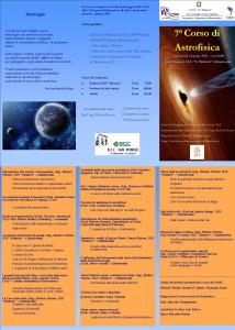 Pieghevole 7° Corso di Astrofisica