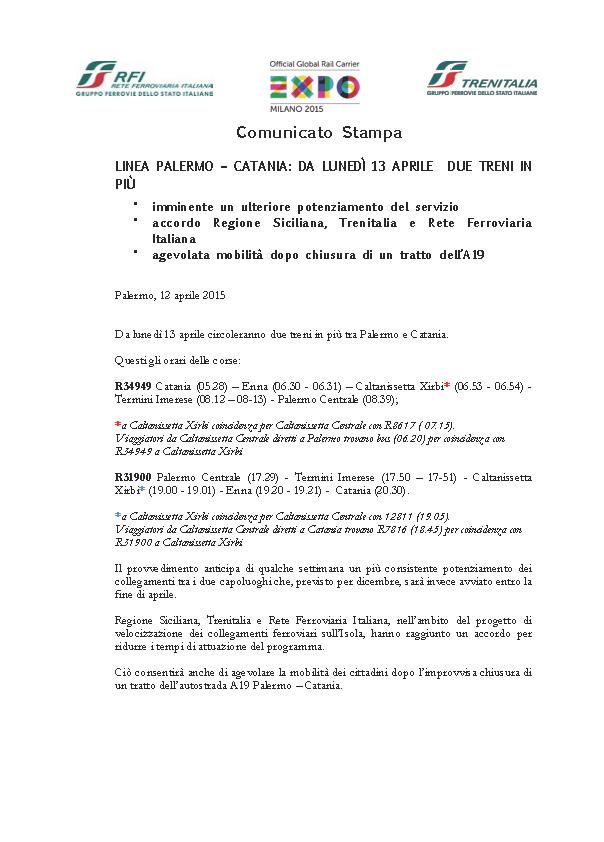 2015_04_12 Sicilia_Cs  variazioni PA - CT dal 13 apr