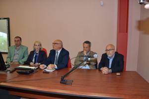 L'arch. Giuseppe Saggio, l'arch. Daniela Vullo,il dr Lorenzo Guzzardi, il sindaco Giovanni Ruvolo e l'ing. Amedeo Falci