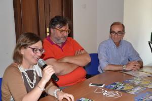 L'assessore Marina Castiglione, Michele Vecchio ed Emanuele Gruttadauria