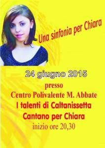 Locandina Una sinfonia per Chiara