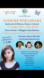 Evento di sabato 11 a favore di Chiara