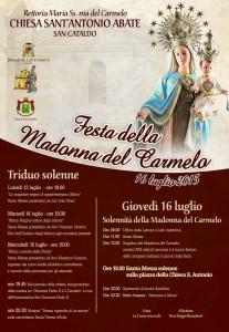 Manifesto ufficiale 2015 - Madonna del Carmelo