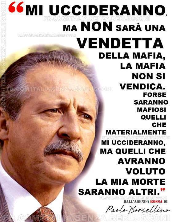 Paolo Borsellino Uno Striscione Al Comune Per L Anniversario