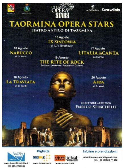Lirica due artisti nisseni al teatro antico di taormina for Pro loco taormina