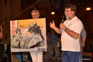 Primo premio sezione Pittura al maestro Calogero Ciulla per l'opera MOSTRI MARINI (4)