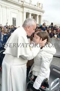 Chiara con Papa Francesco