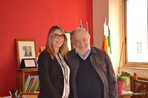 La preside Irene Cinzia Collerone con il regista Pupi Avati