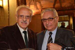 Il dr Arcangelo Lacagnina e l'editore Salvatore Granata