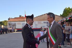 Encomio all'appuntato Diego Pace consegnato dal sindaco Giovanni Ruvolo