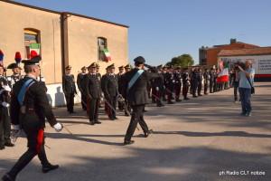Il col. Gerardo Petitto riceve gli onori militari