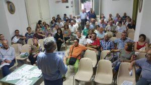 Uno degli incontri, alla Parrocchia Santa-Maria Del Rosario