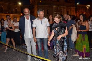 Boris Pastorello, il sindaco Giovanni Ruvolo e Narina Castiglione