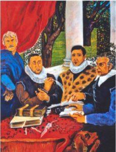 Una delle opere di Giuseppe Burgio