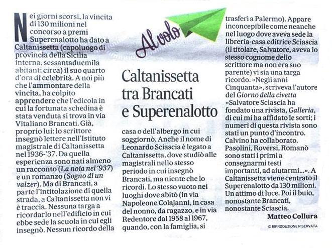 Collura_Il Messaggero del 22.04.2018