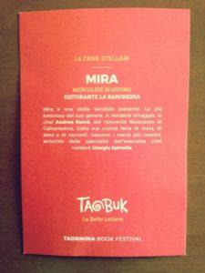 Il menu di Taobuk