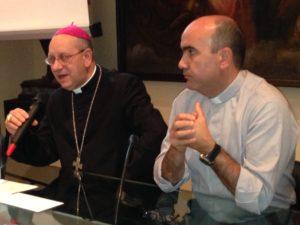 Vescovo Russotto e Monsignor La Placa
