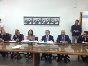 gli investigatori in conferenza stampa
