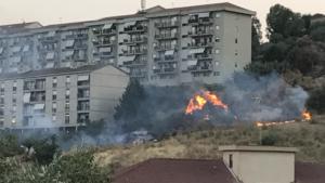 l'incendio in via Moravia