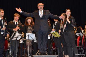Il M° Cav. OMRI Angelo Li Calsi direttore dell'orchestra di fiati dell'Istituto Bellini
