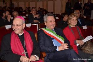 S.E il Vescovo Russotto, il Sindaco Ruvolo e S.E. M.Grazia Vagliasindi