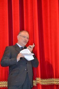 Il presidente Lions Vincenzo La Rosa in collegamento con Italo Conti