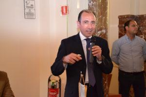 Il presidente della Banca del Nisseno saluta gli intervenuti