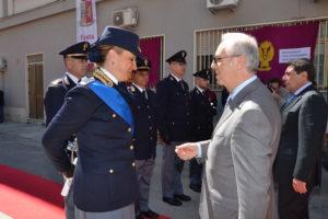 Il vice Questore e Comandante della Polizia Stradale d.ssa Maria Grazia Milli