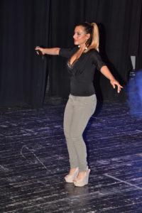 La cantante Andrea Visconti