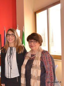 La dirigente Irene Collerone e la prof.ssa Nadia Rizzo