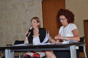 L'assessore Marina Castiglione e la d.ssa Patrizia Falzone