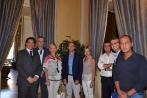 L'assessore Zagarrio con i componenti l'Ufficio Europa