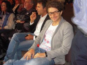 Lo showman Barty Colucci presentatore con Adriana Tuzzeo della serata finale