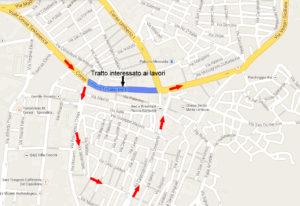 Mappa traffico veicolare lavori Corso Vittorio Emanuele