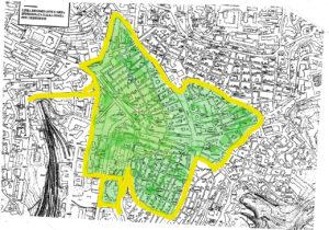 Planimetria del centro storico interessata dal regolamento