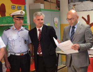 Il giudice Calogero Cammarata proclama Modaffari