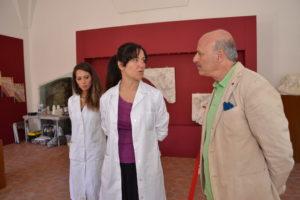 Serena Di Paola, Belinda Giambra ed il past president del Rotary, Emilio Giammusso