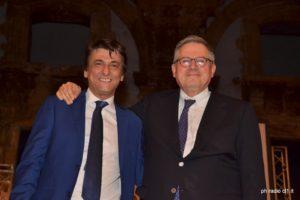 Tony Maganuco con Paolo Liguori presidente di giuria 2016
