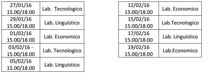 open day RUSSO calendario
