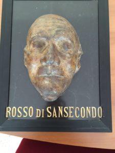 La maschera funeraria ritrovata